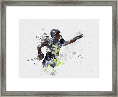 Russell Wilson Framed Print by Rebecca Jenkins