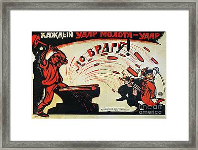 Russia: Anti-capitalist Poster, 1920 Framed Print by Granger