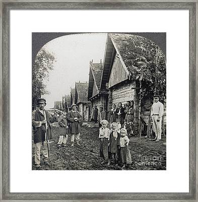 Russia: Peasants Framed Print by Granger