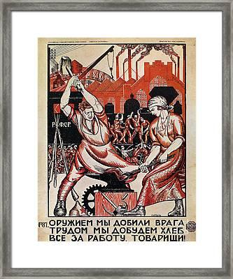 Russia: Soviet Poster, 1920 Framed Print