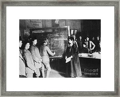 Russia: Students, 1917 Framed Print by Granger