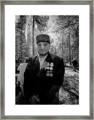 Framed Print featuring the photograph Russian Afghanistan War Veteran by John Williams