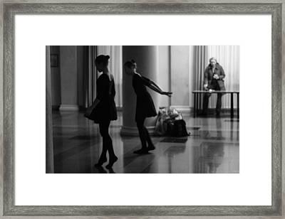 Russian Ballerinas Warming Up Framed Print