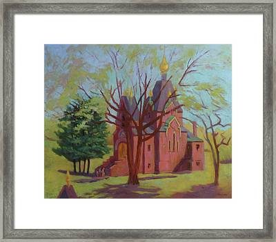 Russian Candles Church Framed Print by Bruce Zboray