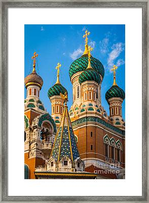 Russian Cupolas Framed Print by Inge Johnsson