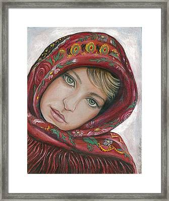 Russian Girl Framed Print