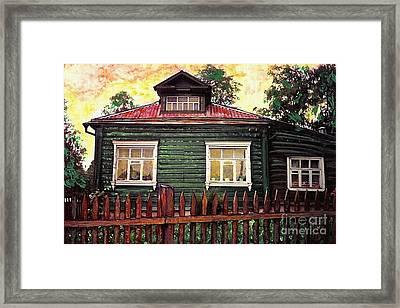 Russian House 2 Framed Print by Sarah Loft