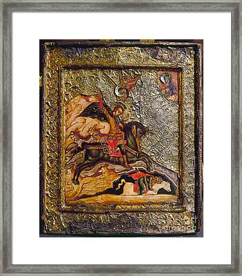 Russian Icon: Demetrius Framed Print by Granger