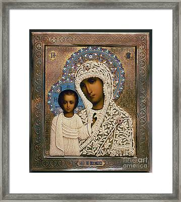 Russian Icon: Mary Framed Print by Granger