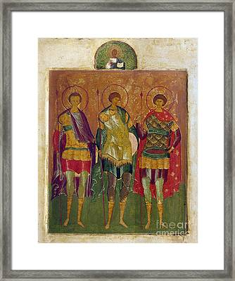 Russian Icon: Saints Framed Print by Granger