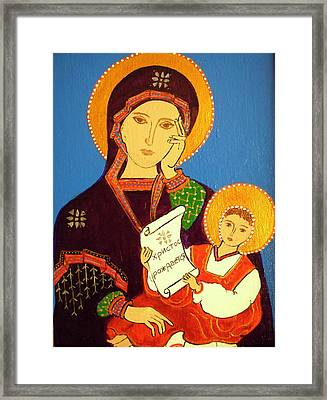 Framed Print featuring the painting Russian Icon by Stephanie Moore