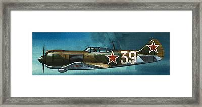 Russian Lavochkin Fighter Framed Print by Wilf Hardy