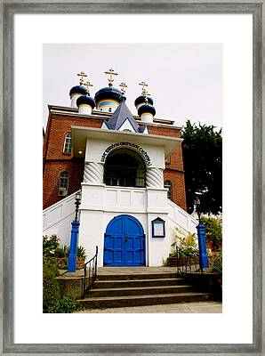 Russian Orthodox Church Framed Print by Sonja Anderson
