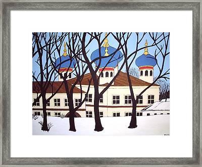 Russian Orthodox Church Framed Print by Stephanie Moore
