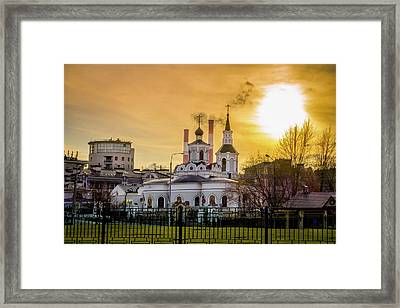 Russian Ortodox Church In Moscow, Russia Framed Print