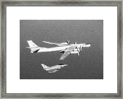 Russian Plane Graffiti Framed Print by Roy Pedersen