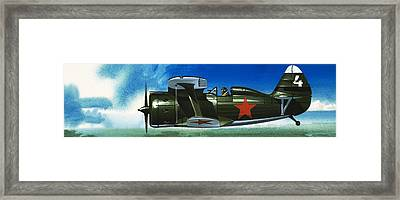 Russian Polikarpov Fighter Plane Framed Print by Wilf Hardy
