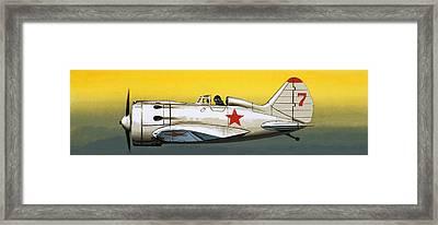 Russian Polikarpov Fighter Framed Print by Wilf Hardy
