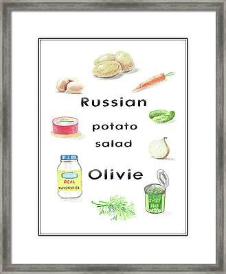 Russian Potato Salad Olivie Framed Print by Masha Batkova