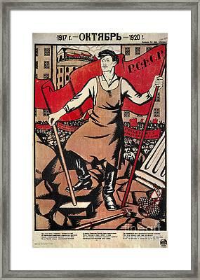 Russian Revolution, 1920 Framed Print by Granger