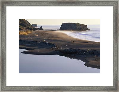 Russian River And Goat Rock Framed Print by Soli Deo Gloria Wilderness And Wildlife Photography