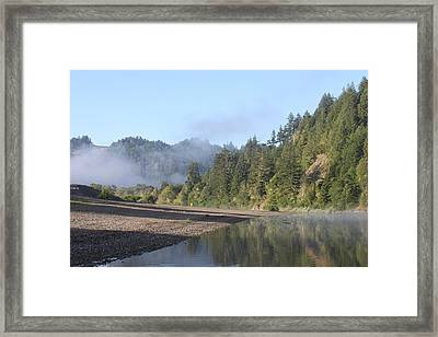 Russian River Morning Glow Framed Print