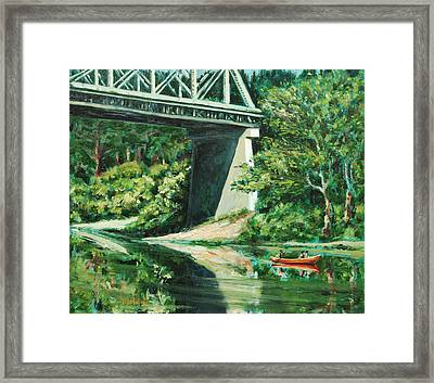 Russian River Framed Print by Rick Nederlof