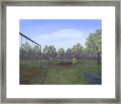 Russian Roulette For Five Year Olds Framed Print by Kent Nicklin