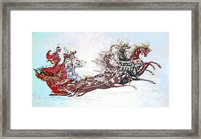 Russian Symbols Of New Year Framed Print