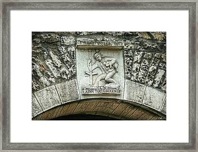 Framed Print featuring the photograph Russian To Swiss Dialect Translation by Hanny Heim