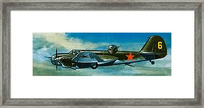 Russian Tupolev Bomber Framed Print by Wilf Hardy