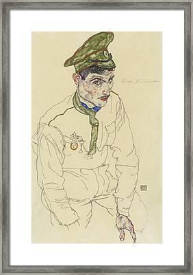 Russian War Prisoner Framed Print by Egon Schiele
