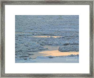 Russian Waterway Frozen Over Framed Print