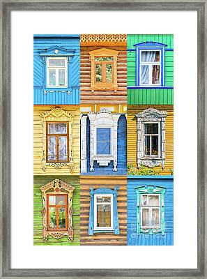 Framed Print featuring the photograph Russian Windows by Delphimages Photo Creations