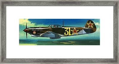 Russian Yakolev Fighter Framed Print by Wilf Hardy