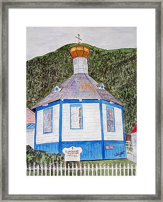 Russians In Alaska Framed Print by Larry Wright