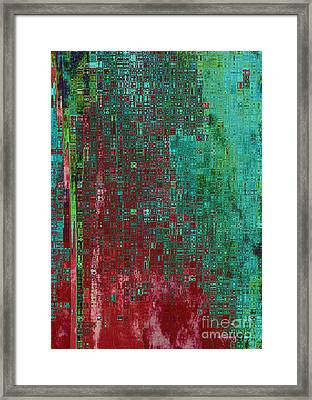 Rust Abstract Framed Print by Carol Groenen