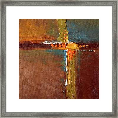 Framed Print featuring the painting Rust Abstract Painting by Nancy Merkle