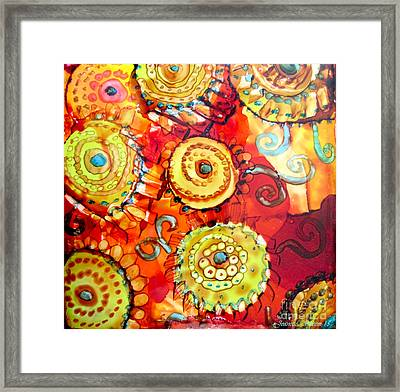 Rust And Gears Framed Print by Jeanette Skeem
