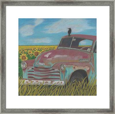 Rust And Gold Framed Print by Arlene Crafton