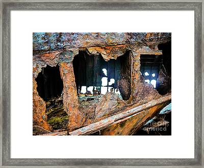 Shipwreck On Inisheer 2 Framed Print by Lexa Harpell