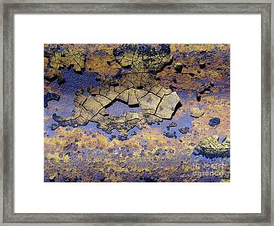 Rust And Paint Framed Print