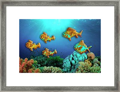 Rust Fish Framed Print