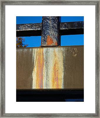 Rust Framed Print by Heather S Huston