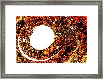 Rust In Infrared Framed Print by Onyonet  Photo Studios