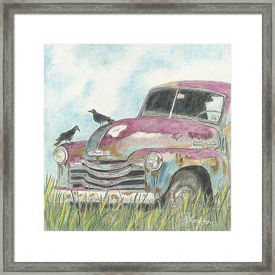 Framed Print featuring the drawing Rust In Peace by Arlene Crafton