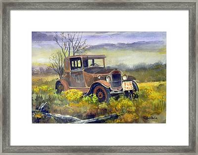 Rust In Peace  Sold Framed Print