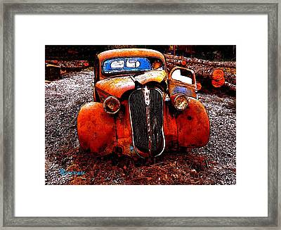 Framed Print featuring the photograph Rust In Peace by Sadie Reneau