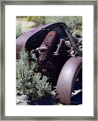 Rust In The Dust Framed Print
