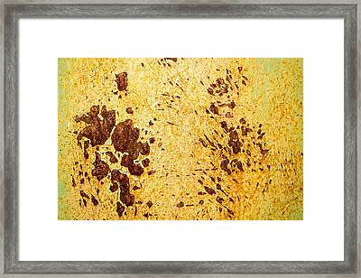 Framed Print featuring the photograph Rust Metal by John Williams